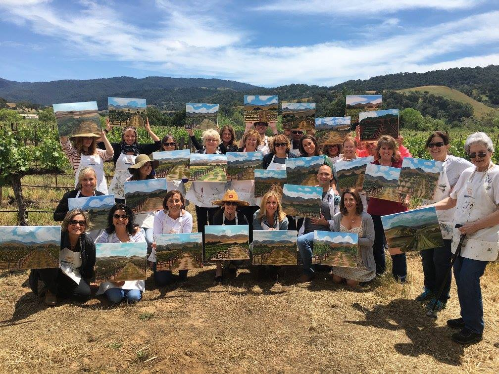 Events things to do in Santa Ynez Valley, Santa Barbara County Wineries Painting in the Vineyard Sunstone Winery