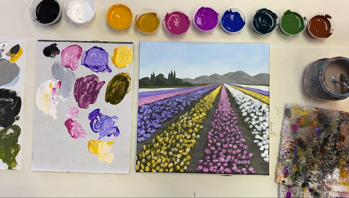Flower Fields Painting