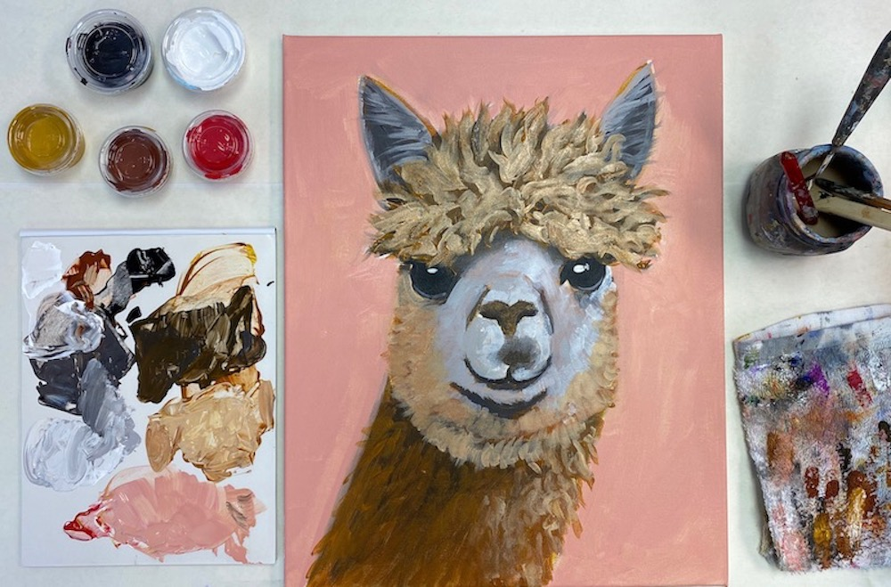 The Fluffy Alpaca – Acrylic Painting Tutorial