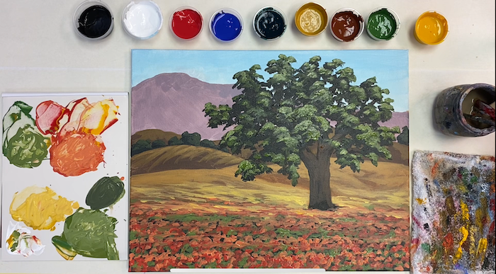 Santa Ynez Valley Oak Tree – Acrylic Painting Tutorial