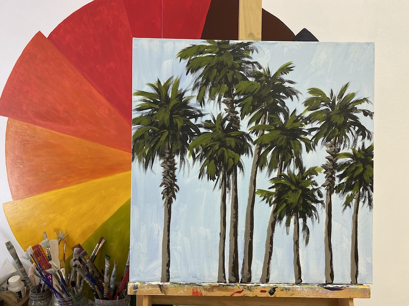 Santa Barbara Palm Trees – Acrylic Painting Tutorial