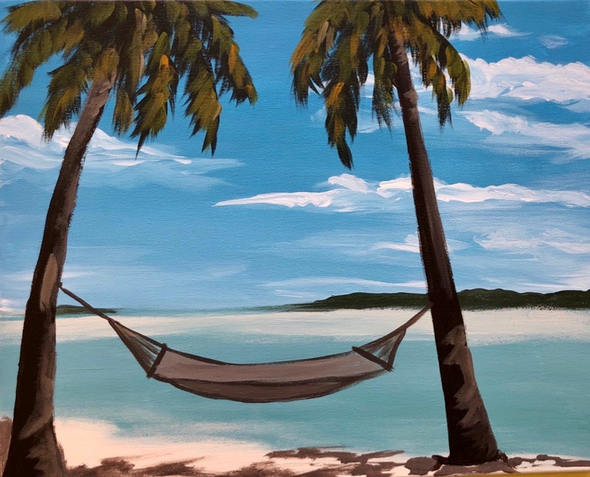 A Nap in Paradise: Acrylic Painting Tutorial